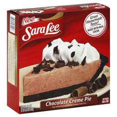 Chocolate Creme Pie, Sara Lee Corporation, Downers Grove, Illinois, US.