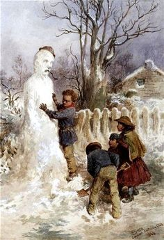 Creation of Snowman. Charles Green 'Snowman', 1870