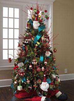 RAZ 2012 Countdown Christmas-love the tree skirt Whimsical Christmas, Beautiful Christmas Trees, Christmas Tree Themes, Noel Christmas, Holiday Tree, Xmas Tree, Winter Christmas, Christmas Tree Decorations, Christmas Crafts