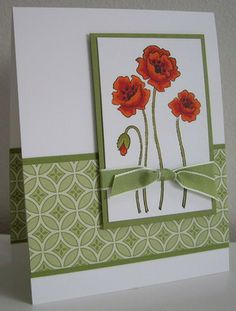 Stamping with Loll: Poppies...luv the simplicity of the layout to show off the beautiful coloring in the poppy image...