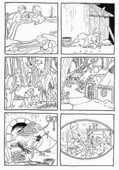 Images séquentielles Hansel et Gretel