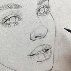 Sketch by Humid Peach. Humid Peach is the name of the artist whose real name is Ksenia Kondyleva. Continue Reading and for more sketch → View Website Portrait Au Crayon, Pencil Portrait, Portrait Art, Portraits, Cool Art Drawings, Pencil Art Drawings, Art Drawings Sketches, Drawing Faces, Sketches Of Faces
