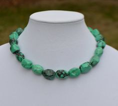 Chunky Turquoise Necklace by SeaSaltShop on Etsy, $29.00