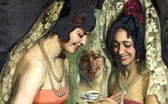 Majas tomando café.1931 - Pedro Antonio Martínez. (Pulpí, 1886 – Argentina, 1965)