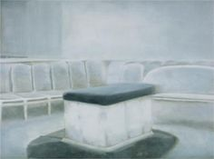 Altar, 2002 by Luc Tuymans. New European Painting. Wilhelm Sasnal, Luc Tuymans, Marlene Dumas, Mood And Tone, Black And White Painting, European Paintings, Figure Painting, Altar, Art Boards
