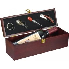 Cutie cu 4 accesorii pentru vin