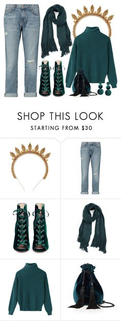 """""""Untitled #10078"""" by cherieaustin ❤ liked on Polyvore featuring Deepa Gurnani, Current/Elliott, Gianvito Rossi and Free People"""