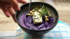 For soup lovers: a silky blue cheese & red cabbage soup recipe... one of my…