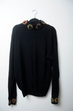Awesome Vintage 80s/90s Silk Long Sleeve by LipstickDinosaur
