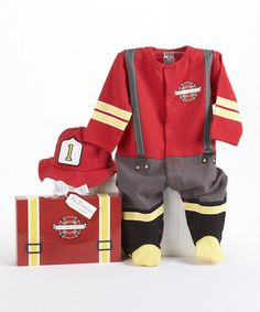 Another great find on #zulily! Red Big Dreamzzz Firefighter Footie & Hat by Baby Aspen #zulilyfinds