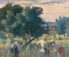 Mujeres atando las cepas, Cross Henri Edmond - Madrid, Museo Thyssen Bornemisza