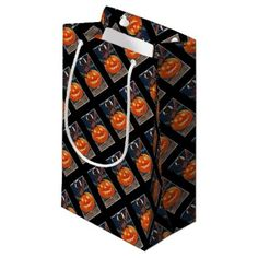 #Kitty Takes Precautions or Black Cat Salutes Small Gift Bag - #Halloween happy halloween #festival #party #holiday