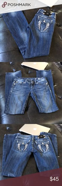 Miss Me jeans Good used condition Miss Me jeans size 27 inseam 33 Miss Me Jeans Boot Cut