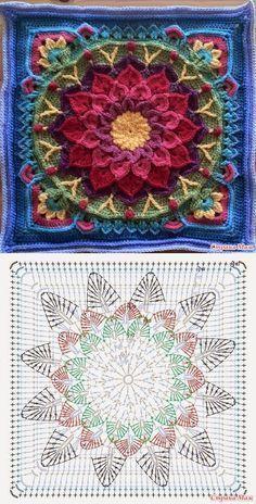Mandala: Crochet Motifs…♥ Deniz ♥ – Love Amigurumi Mandala: Crochet Motifs…♥ Deniz ♥ – Love Amigurumi,Crochet *Mandala* Mandala: Crochet Motifs…♥ Deniz ♥ Related posts:VSCO - holy shit that's a lot of repubs Crochet Mandala Pattern, Crochet Motifs, Granny Square Crochet Pattern, Crochet Blocks, Crochet Diagram, Crochet Chart, Crochet Squares, Crochet Stitches, Free Crochet