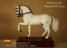 Needle felted horse, OOAK unique equestrian sculpture of Fuego XII