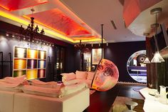 Glittery Leisure Space Hiding an Aston Martin DB4: The Batcave in London , This unusual 3000 square feet leisure area has been custom-designed by lighting interior designer Ben Rousseau for a client who is an is an enthusiast of urban and contemporary art. He uses the space to relax, party and play games. He also owns an Aston M , Admin ,...