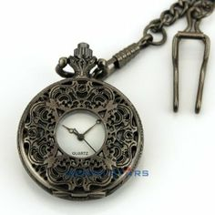 Victorian Style Hollow Floral Titanium Black Pendant Pocket Watch+Chain+Box Gift by new brand. $5.99. Watch Case Diameter: Approx. 3.80cm Thickness of Watch Case: Approx. 1.00cm Watch Case Material: Alloy Watch Dial Color: White Watch Chain Color: Black Movement: Quartz Daily Water Resistant (not for swimming or showering): Yes ( 2.54cm =1.00inch)