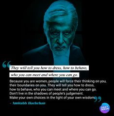 End your day with some inspiration with quotes by these Bollywood celebrities. Their words will give a lease of motivation. Amitabh Bachchan Quotes, Bollywood Stars, English Quotes, Bollywood Celebrities, Woman Quotes, Quotations, How To Get, Motivation, Sayings