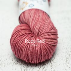 I really need to get back to work... just one more skein plucky knitter: ruby red
