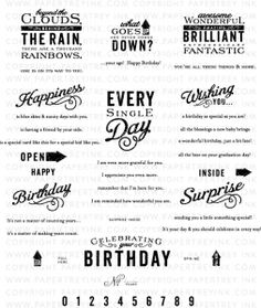 Movers & Shakers Sentiments Stamp Set