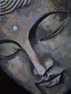 """The one who has conquered himself is a far greater hero than he who has defeated a thousand times a thousand men."" —Gautama Buddha, The Dhammapada . Buddha Zen, Gautama Buddha, Buddha Face, Budha Painting, Painting & Drawing, Buddha Drawing, Art Asiatique, Yoga Art, Zen Art"