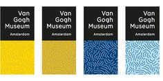 """Logo with """"footprint"""" mark. These are the corporate colors - shades of blue and yellow as featured in Van Gogh's paintings Sunflowers and Al..."""