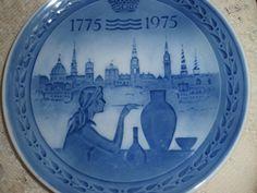 Royal Copenhagen 200th Jubilee  anniversary  1775- 1975, Royal Copenhagen Commemorative Plate, Bicentennial collector plate by SocialmarysTreasures on Etsy