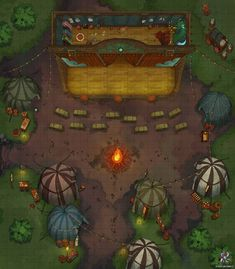 Theater Stage Battle Map for Dungeons Dragons and Pathfinder - Moyiki Sites Fantasy City Map, Fantasy World Map, Dungeons And Dragons Homebrew, D&d Dungeons And Dragons, Dnd World Map, Forest Map, Pathfinder Maps, Haunted Circus, Village Map