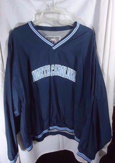 UNC North Carolina Tarheels Pullover Windbreaker Jacket Mens XL #GenuineStuffCollegiate #NorthCarolinaTarHeels