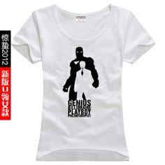 Iron Man T-shirt, Tony Stark, Robert Downey Jr., Iron Man T-shrirt for Women, IronMan Short Sleeve T Shirt Cotton Tees