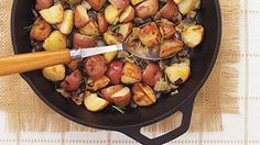 Smashed Potatoes with Garlic and Herbs Recipe
