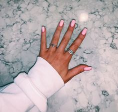 nails - VSCO relatablemoods Images - Short Nails by Emily Summer Acrylic Nails, Best Acrylic Nails, Light Pink Acrylic Nails, Baby Pink Nails Acrylic, Simple Acrylic Nails, Cute Nails, Pretty Nails, Gorgeous Nails, Hair And Nails