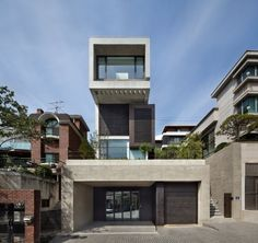 Architecture Project - The H-House. The Korean design group bang by min and architect Sae Min Oh created the H-House in Seoul, Korea. The modern house is Narrow House, Sweet Home, Building Design, Beautiful Homes, Architecture Design, House Design, House Styles, Houses, Seoul Korea