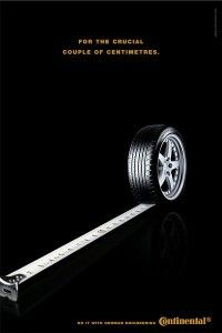 The Print Ad titled MEASURING TAPE was done by Change Communication advertising agency for product: Continental Tyres (brand: Continental) in Germany. It was released in Apr Ads Creative, Creative Advertising, Advertising Design, Advertising Agency, Graphic Design Posters, Graphic Design Inspiration, Font Art, Great Ads, Newspaper Design