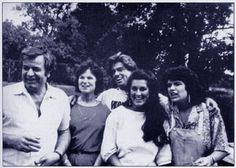 George Michael, with his father, mother, and sisters.