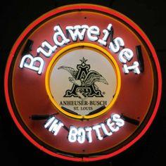 Retro Budweiser in Bottles Beer Neon Sign Bar Bud Open Mancave Wall Lamp Light | eBay