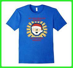 Mens Funny Christmas T-shirt don't believe Santa 3XL Royal Blue - Holiday and seasonal shirts (*Amazon Partner-Link)