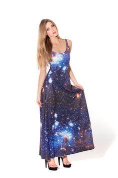 Galaxy Blue Maxi Dress (Made To Order)