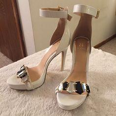 New White Celina Scene Embellished Heels size 6.5 Never been worn Celina heels by Scene. 6.5 Scene Shoes Heels