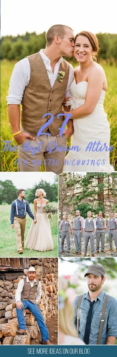 27 Rustic Groom Attire For Country Weddings ❤ You have already chosen your wedding dress, make-up, maybe even hairstyle, so it's time to think about wedding shoes! See our gallery for more inspiration! See more www.weddingforwar... groom #groomsman  Find more inspo at www.pinterest.com/laurenweds/groom