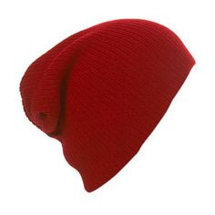 Red Slouch Beanie Hat. I need more slouchy winter hats...