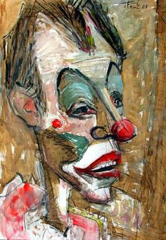 Google Image Result for http://en.artoffer.com/_images_user/5066/92915/large/Lubomir-Tkacik-Circus-Clowns-People-Portraits-Contemporary-Art-Neo-Expressionism.jpg