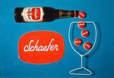 Robert Brownjohn, Schaefer Beer Ad, New York 1950's