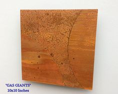 Copper Art Abstract Patina Painting Gas Giants 10 x by Copperhead, $65.00