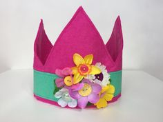 Pink Princess Crown with Flowers Pink Princess, Little Ones, Tea Party, Crown, Art Prints, Create, Flowers, Inspiration, Art Impressions