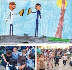 Collegio Maria Ausiliatrice - Santiago - Cile. The children's drawings of the salesian schools around the world.