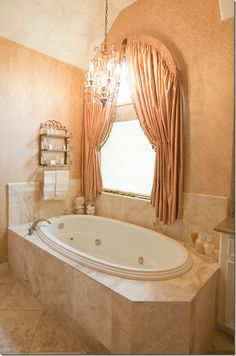 Bath Room Window Curtains Over Tub Light Fixtures Ideas For 2019 Peach Curtains, Cute Curtains, Silk Curtains, Window Curtains, Bathroom Window Treatments, Bathroom Windows, Bathroom Curtains, Shower Curtains, Best Bath Bombs