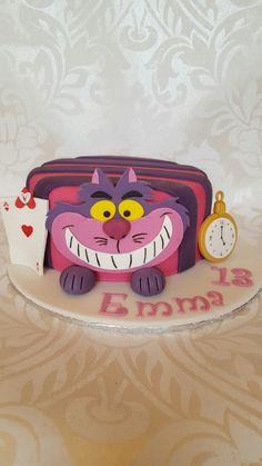 My Cheshire Cat cake. I love him!