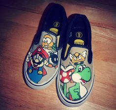 How To Paint Canvas Mario Shoes  DIY tutorial. :)