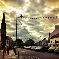 Bunting 'd up tynemouth village